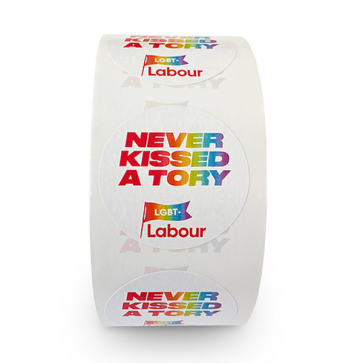 Never Kissed a Tory Stickers - 250